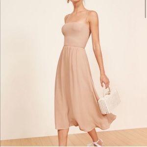 Reformation Rosehip Midi Dress Blush Size 4